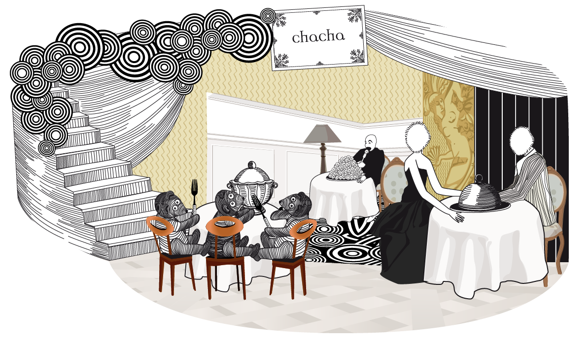 Night club Chacha - retro animated design - pop up card - balloon - party paper - Illustration et animation Mesdemoiselles  3